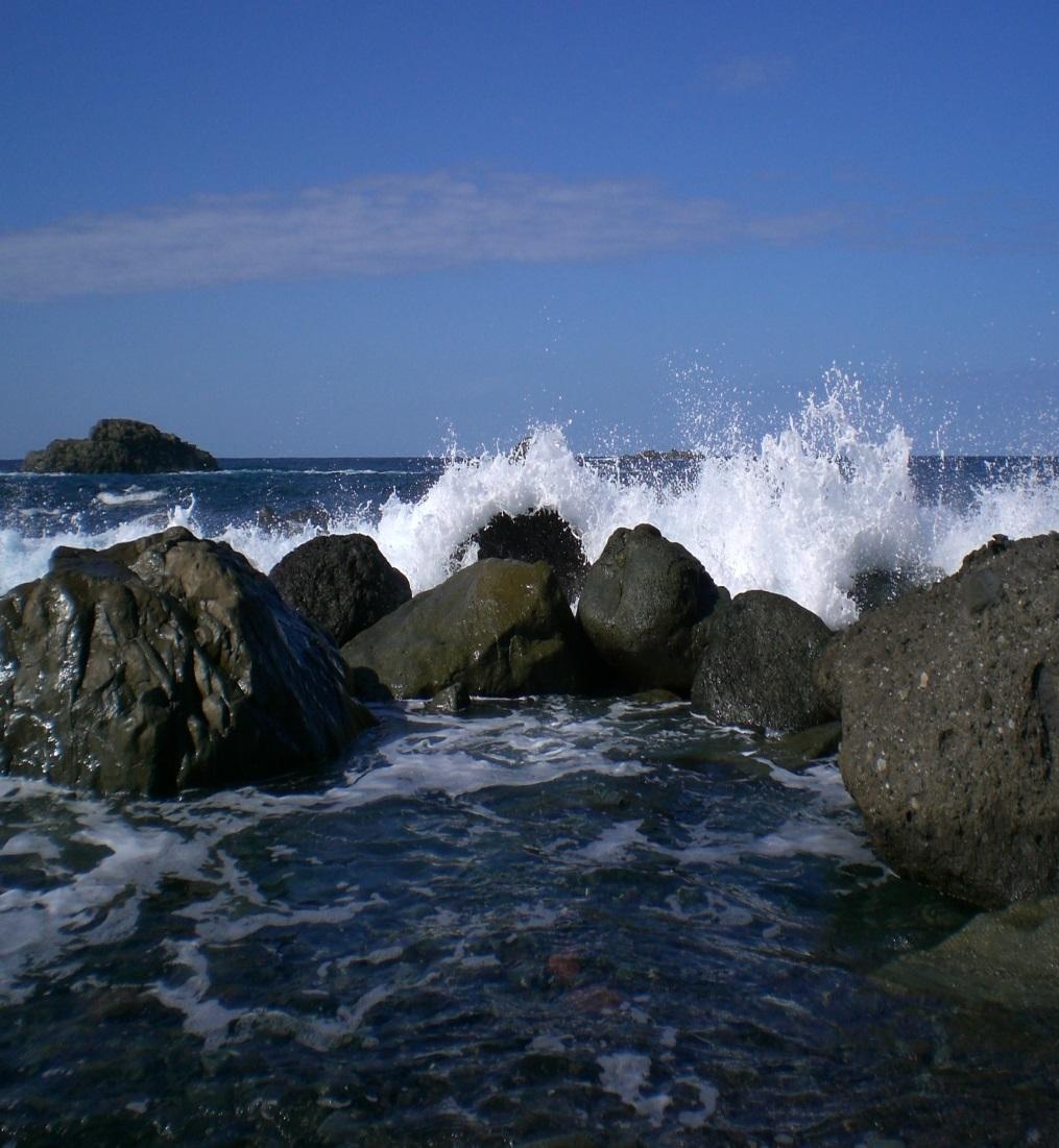 Das Leben ist wie das Meer - aufbrausend aber dann auch ruhig.